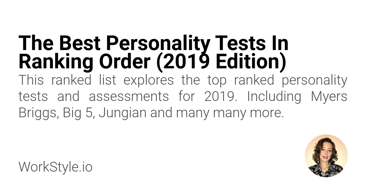 The Best Personality Tests In Ranking Order (2019 Edition) - WorkStyle