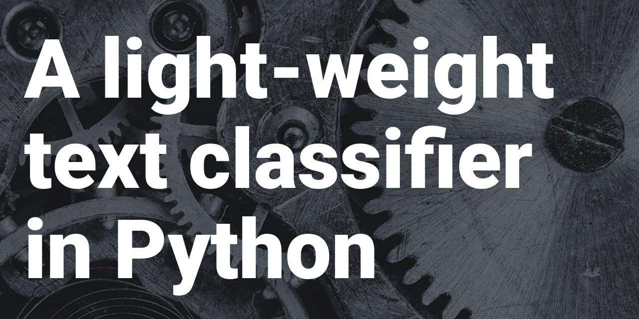 Lightweight text classifier in Python