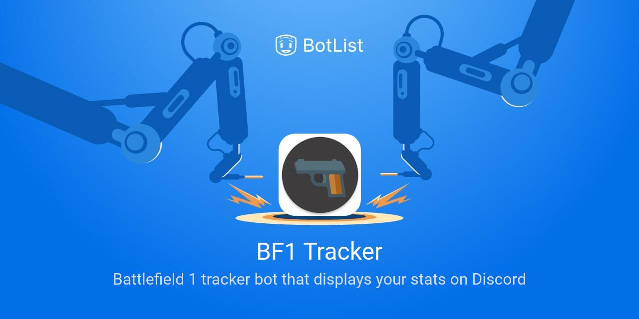 Discord Tracker bf1 tracker bot on discord chatbot on botlist