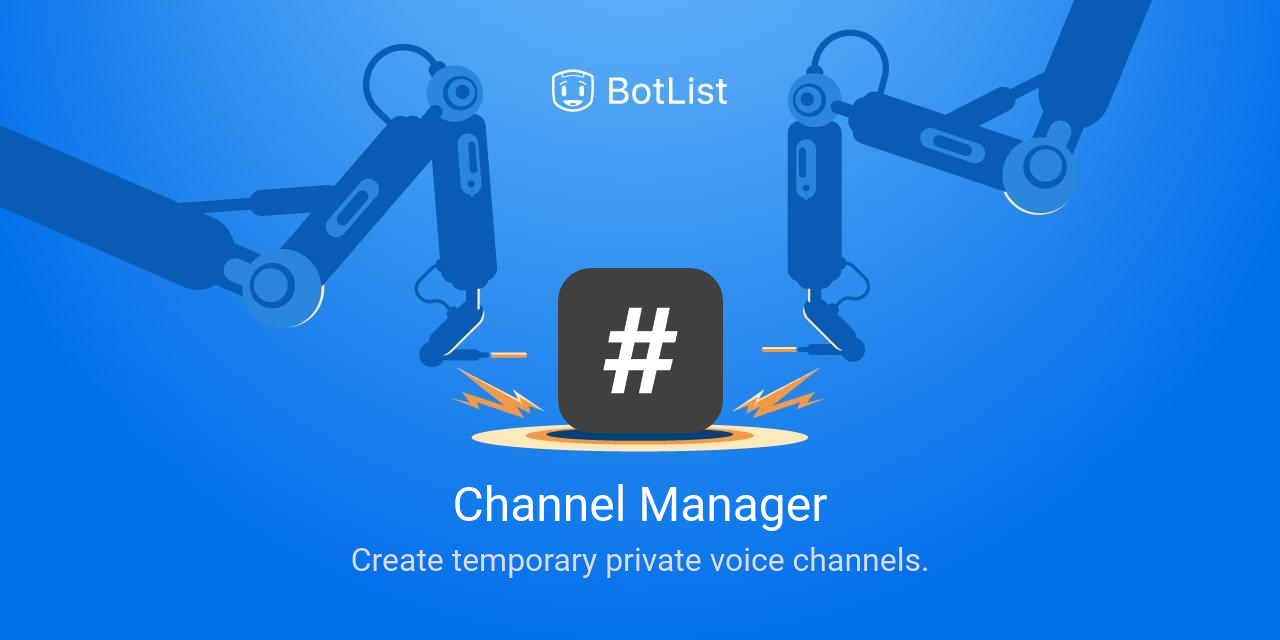 Channel Manager Bot on Discord chatbot on BotList