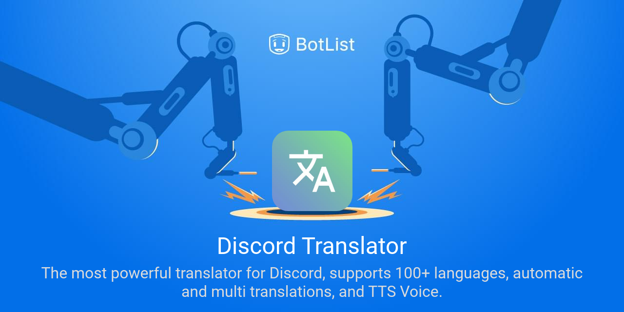 Discord Translator Bot on Discord chatbot on BotList