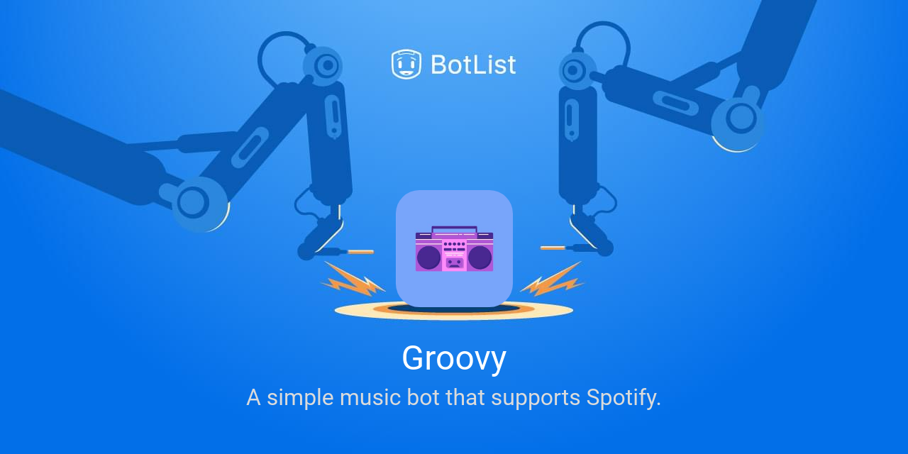 Groovy Bot on Discord chatbot on BotList