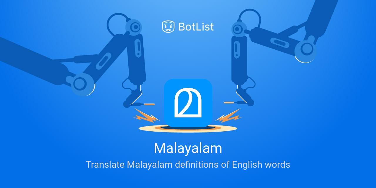 Malayalam Bot on Skype chatbot on BotList