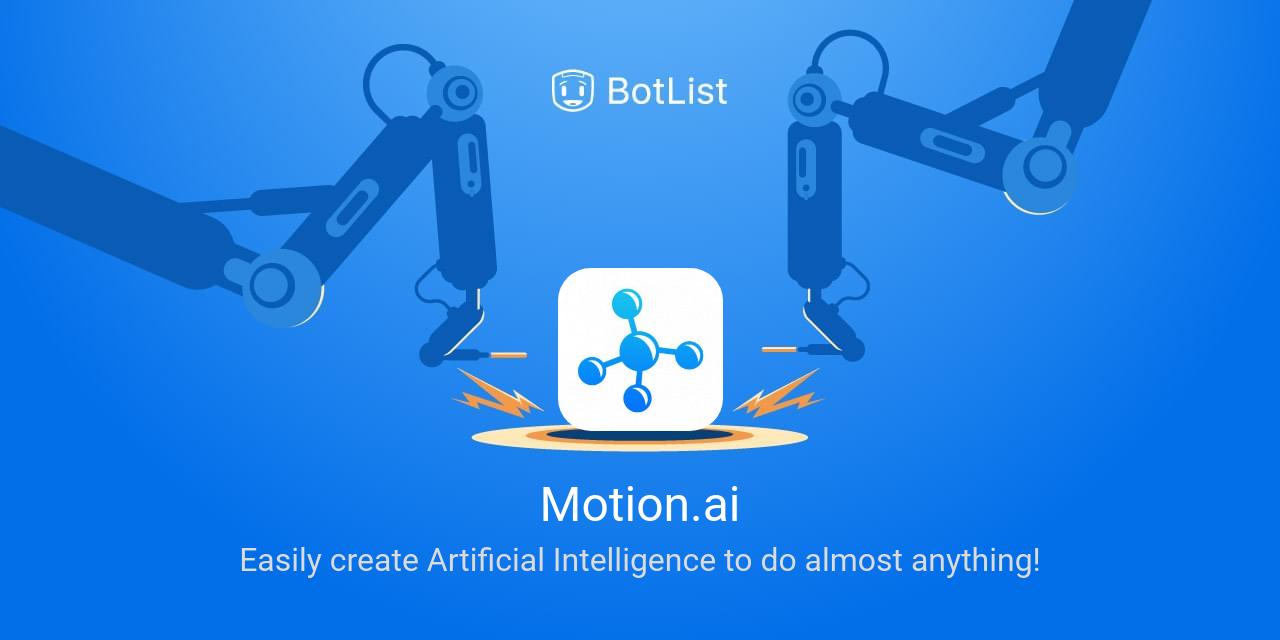 Motion.ai Bot on Web chatbot on BotList
