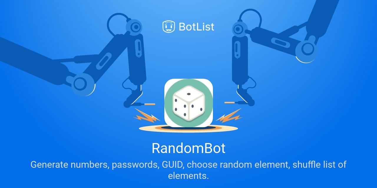 RandomBot Bot on Telegram chatbot on BotList