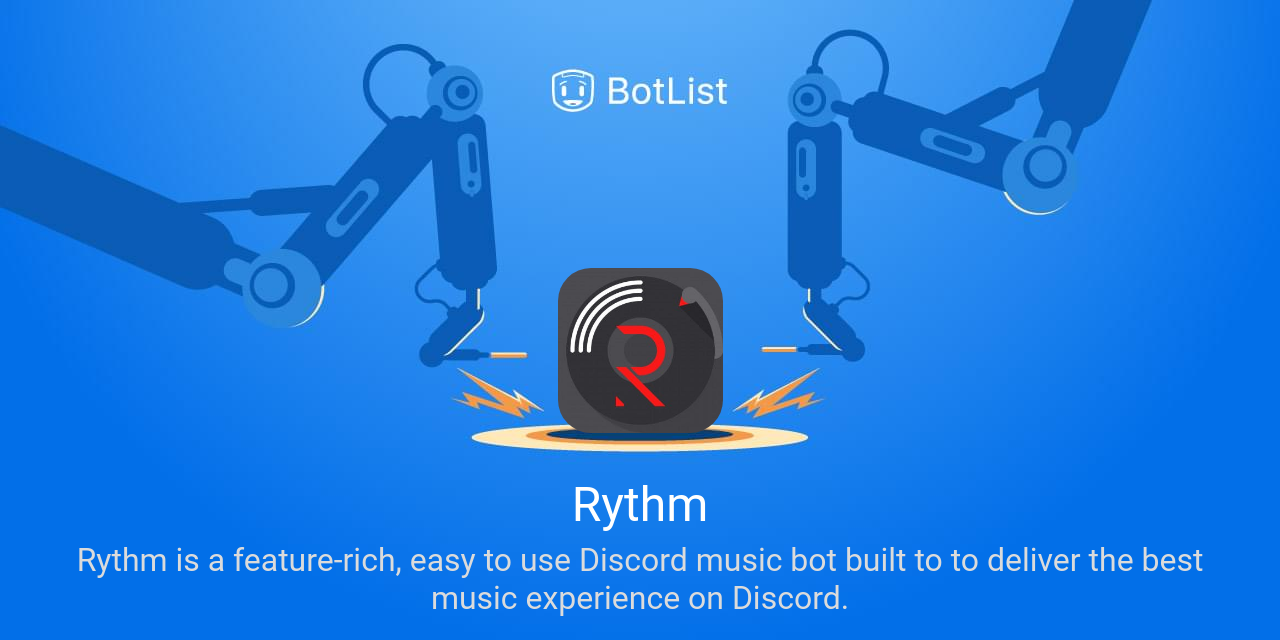Rythm Bot on Discord chatbot on BotList