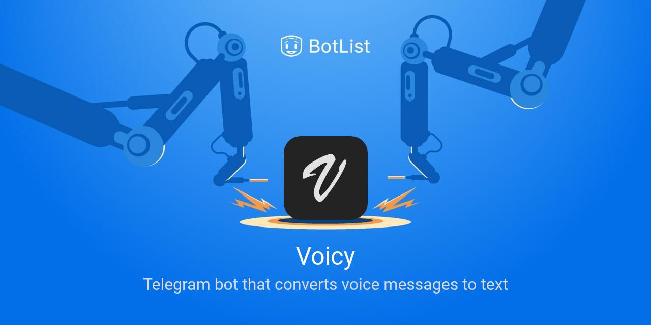 Voicy Bot on Telegram chatbot on BotList