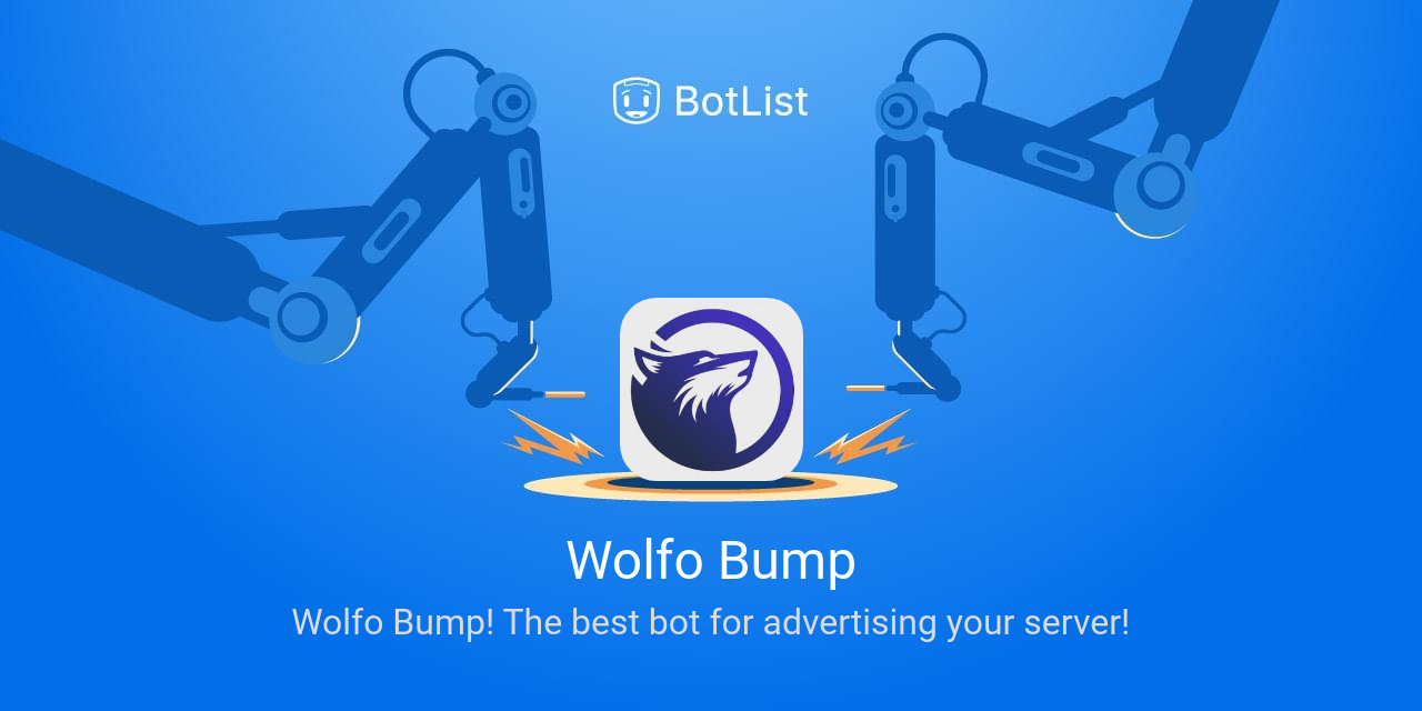 Wolfo Bump Bot on Discord chatbot on BotList